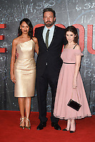 "Cynthia Addai-Robinson, Ben Affleck and Anna Kendrick<br /> at the premiere of ""The Accountant"" at the Empire Leicester Square, London.<br /> <br /> <br /> ©Ash Knotek  D3183  17/10/2016"