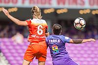 Orlando, FL - Saturday June 24, 2017: Morgan Brian, Camilla  during a regular season National Women's Soccer League (NWSL) match between the Orlando Pride and the Houston Dash at Orlando City Stadium.