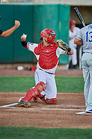 Harrison Wenson (23) of the Orem Owlz on defense against the Ogden Raptors at Home of the Owlz on September 11, 2017 in Orem, Utah. Ogden defeated Orem 7-3 to win the South Division Championship. (Stephen Smith/Four Seam Images)