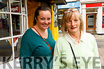 Samantha and Gretta Spillane from the Maherees enjoying their shopping day in Tralee on Thursday .