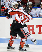 Chase Polacek (RPI - 21), Anthony Bitetto (Northeastern - 7) - The visiting Rensselaer Polytechnic Institute Engineers tied their host, the Northeastern University Huskies, 2-2 (OT) on Friday, October 15, 2010, at Matthews Arena in Boston, MA.