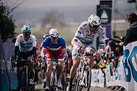 Alexander Kristoff  (NOR/UAE) in the first ascent up the Paterberg<br /> <br /> 102nd Ronde van Vlaanderen 2018 (1.UWT)<br /> Antwerpen - Oudenaarde (BEL): 265km