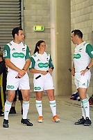 Match officials Ben O'Keefe, Rebecca Mahoney and Mike Fraser before the Super Rugby match between the Hurricanes and Sharks at Sky Stadium in Wellington, New Zealand on Saturday, 15 February 2020. Photo: Dave Lintott / lintottphoto.co.nz