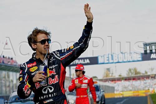 18.03.2012. Melbourne, Australia.   Sebastian Vettel Red Bull Racing GP Australia 2012 Formula 1 Grand Prix  Jenson Button won the race with Sebbastian Vettel in second and Lewis Hamilton in third place.