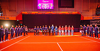 Den Bosch, The Netherlands, Februari 9, 2019,  Maaspoort , FedCup  Netherlands - Canada, Presentation<br /> Photo: Tennisimages/Henk Koster