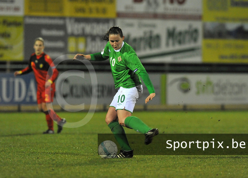 UEFA Women's Euro Qualifying group stage (Group 3) -  KFC Dessel - Armand Melis Stadion : BELGIUM -Northern Ireland ( Belgie - Noord Ierland ) : Sarah McFadden..foto DAVID CATRY / Vrouwenteam.be / Loft6.be