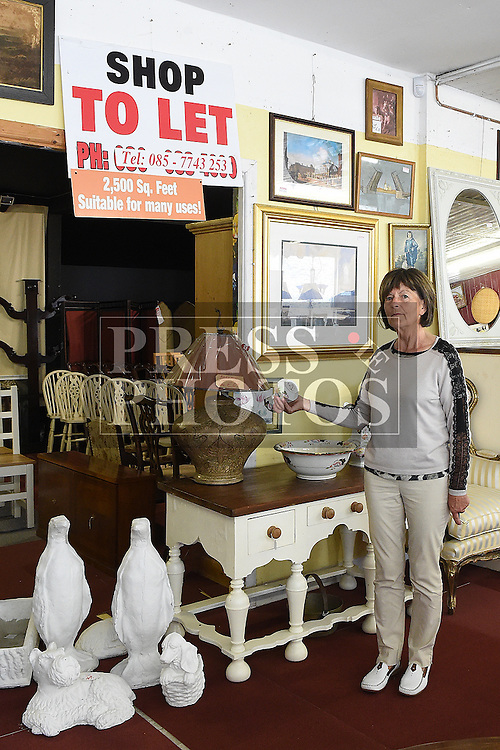 Patricia McAllister pictures at her antique showrooms on Duke street Drogheda on her last day of trading after her family were in business for 184 years. The business was established in 1832. Photo:Colin Bell/pressphotos.ie