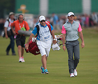 20.07.2014. Hoylake, England. The Open Golf Championship, Final Round. Rory MCILROY [NIR] struts along the fairway on his way to winning the tournament