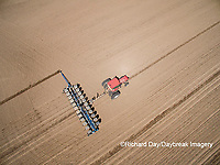 63801-10112 Farmer planting corn-aerial Marion Co. IL