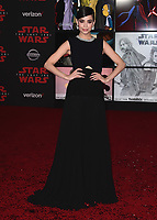 "LOS ANGELES- DECEMBER 9:  Sofia Carson at the World Premiere of Disney Pictures and Lucasfilm's ""Star Wars: The Last Jedi"" at the Shrine Auditorium on December 9, 2017 in Los Angeles, California. (Photo by Scott Kirkland/PictureGroup)"