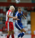 Steve Morison of Millwall and Mark Roberts of Stevenage challenge for a header during the pre-season friendly match between Stevenage Borough &  Millwall at  the Lamex Stadium, Stevenage on 25th July, 2009..Photograph: Kevin Coleman .......................................................Alan Julian of GillinghamAlan Julian of Gillingham............................ during the Wembley Cup pre-season tournament between Barcelona and Al Ahly at Wembley Stadium, London on 26th July, 2009..Photograph: Kevin Coleman .......................................................Alan Julian of GillinghamAlan Julian of Gillingham............................
