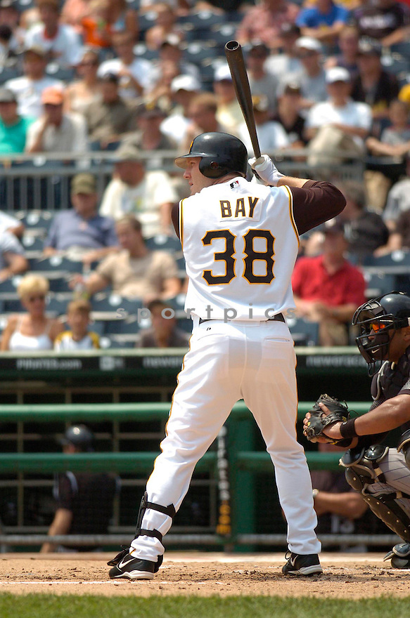 Jason Bay, of the Pittsburgh Pirates, in action against the Colorado Rockies on July 19, 2006 in Pittsburgh..Pirates win 6-5..Chris Bernacchi/ SportPics