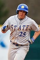 Jesse Sawyer (25);March 9th, 2010; South Dakata State University vs Arkansas Razorbacks at Baum Stadium in Fayetteville Arkansas. Photo by: William Purnell/Four Seam Images