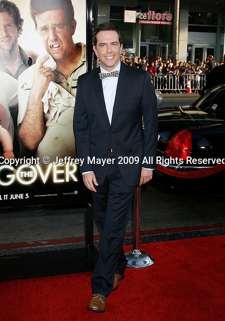 "HOLLYWOOD, CA. - June 02: Actor Ed Helms arrives at the Los Angeles premiere of ""The Hangover"" at Grauman's Chinese Theatre on June 2, 2009 in Hollywood, California."