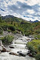 Austria, Vorarlberg, Montafon: Kromerbach, feeder river into Lake Vermunt at Silvretta-Hochalpenstrasse | Oesterreich, Vorarlberg, Montafon: Kromerbach, Zufluss zum Vermuntsee an der Silvretta-Hochalpenstrasse