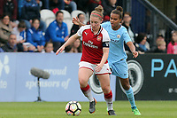 Kim Little of Arsenal Women and Nikita Parris of Manchester City Women during Arsenal Women vs Manchester City Women, FA Women's Super League FA WSL1 Football at Meadow Park on 12th May 2018