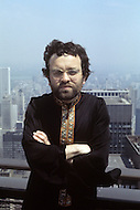 New York City, May 1969. The spanish writter Fernando Arrabal is visiting New York. Those pictures were taken at the top of the Panam building.