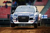 14th April 2018, Circuit de Barcelona-Catalunya, Barcelona, Spain; FIA World Rallycross Championship; Andreas Bakkerud of the EKS Audi Sport in action during the morning World Rallycross free practice