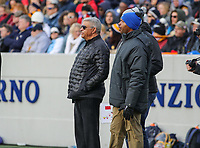 Annapolis, MD - November 11, 2017: Maryland Athletic Director Kevin Anderson (left) while taking his a six-month sabbatical attends the game between SMU and Navy at  Navy-Marine Corps Memorial Stadium in Annapolis, MD.   (Photo by Elliott Brown/Media Images International)