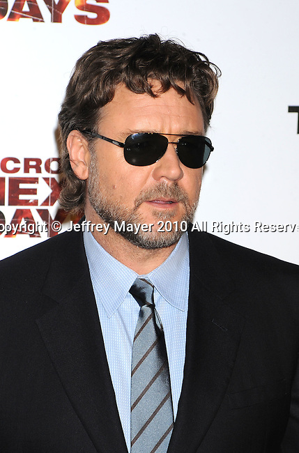 "WEST HOLLYWOOD, CA. - November 16: Russell Crowe arrives at the special screening of ""The Next Three Days""  at the Director's Guild of America on November 16, 2010 in West Hollywood, California."