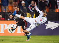 Washington, DC - October 27, 2016: The Montreal Impact defeated  D.C. United 4-2 during the knockout round of Major League Soccer (MLS) playoffs at RFK Stadium.