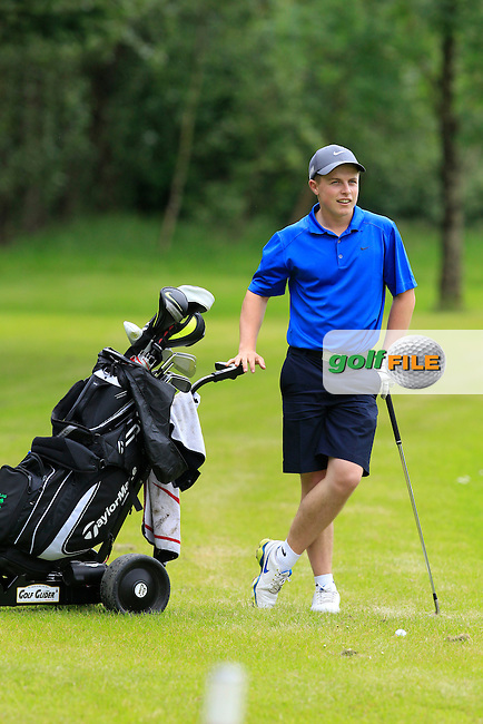 Conor Purcell (Portmarnock) on the 6th fairway during Round 2 of the Irish Boys Amateur Open Championship at Tuam Golf Club on Wednesday 24th June 2015.<br /> Picture:  Thos Caffrey / www.golffile.ie