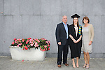 23/10/2015  Pictured at the recent Mary Immaculate College conferring ceremonies were Aisling Mahony, Castleknock, Co. Dublin, who graduated with a Graduate Diploma in Primary Education, with parents Jim and Yvonne Mahony. 625 students from 20 counties and 3 continents were conferred with academic awards across the College&rsquo;s 27 programmes including the College&rsquo;s 100th PhD award.<br /> Pic: Gareth Williams / Press 22<br /> <br /> <br /> Press Release: 23rd October 2015Education is a movement of formation that enables the individual to play their role in transforming society for the common good.100th PhD Graduate Conferred at Mary Immaculate CollegeEducation is a movement of formation that enables the individual to play their role in transforming society for the common good according to Prof. Michael A Hayes, President of Mary Immaculate College, who was speaking at the College&rsquo;s conferring ceremonies today Friday 23rd October. The quality of advanced scholarship at Mary Immaculate College was evident on the day as the 100th PhD graduate was conferred along with close on 650 students from 20 counties and 3 continents all of whom graduated with academic awards across the College&rsquo;s 27 programmes. Congratulating all those graduating the President said &ldquo;These ceremonies mark the high point of the College&rsquo;s year as we acknowledge the achievement of our students. The ceremonies this year are particularly special as we mark the conferring of our 100th PhD Graduate &ndash; this is a very proud achievement for us as a College and I want to congratulate those who have received these doctorates and my colleagues who supervised their work&rdquo;. Not only were students conferred with awards on undergraduate, diploma, graduate diploma and master programmes but this year marked the first graduation of students from the Certificate in General Learning &amp; Personal Development, a programme  for people with intellectual disabilities.&ldquo;Working with students with intellectual disabilities and offering them