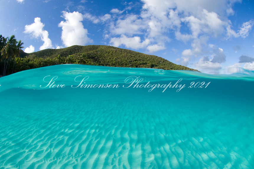 Split level<br /> Trunk Bay, St. John<br /> Virgin Islands National Park