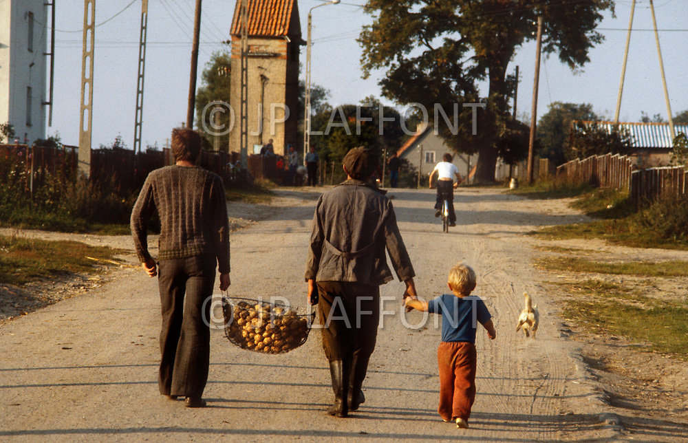 Poland, September, 1981 - A family in the Kolno region.
