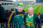 Denis and James Sheehan (Templenoe), pictured at the Kerry v Mayo all Ireland semi-final in Croke Park, on Sunday last.