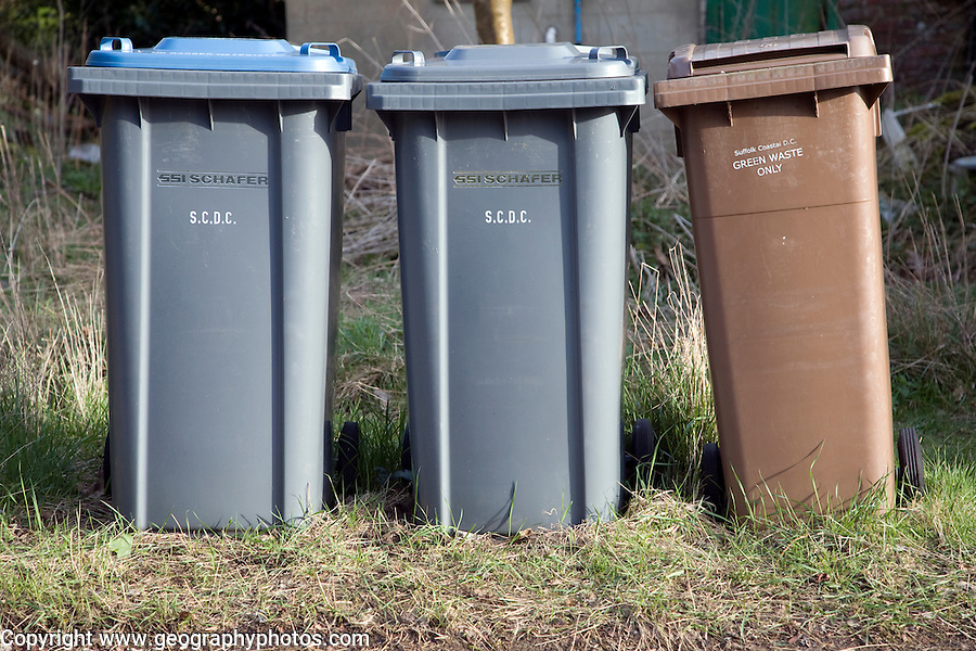 Sorted refuse collection bins