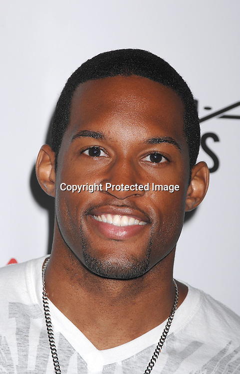 Lawrence Saint-Victor..posing for photos at The 21st Annual Broadway Flea Market and Grand Auction benefitting Broadway Cares/..Equity Fights Aids on September 23, 2007 in Shubert Alley. ....Photo by Robin Platzer, Twin Images