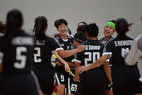 Thailand&rsquo;s Khwanchanok Suksin in action during the World Floorball Championships 2017 Qualification for Asia Oceania Region - Japan v Thailand at ASB Sports Centre , Wellington, New Zealand on Saturday 4 February 2017.<br /> Photo by Masanori Udagawa<br /> www.photowellington.photoshelter.com.