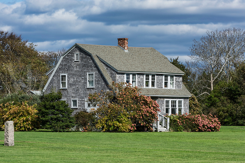 Charming cedar shingle house, Little Compton, Rhode Island, USA.