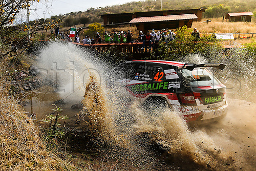 03.03.2016. Leon, Mexico. WRC rally of Mexico. Shakedown and SS1 and SS2.  FUCHS  through the water splash