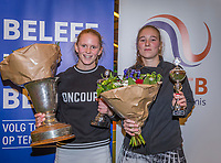 Wateringen, The Netherlands, December 8,  2019, De Rhijenhof , NOJK juniors 14 and18 years, Finals 18 years: Winner  girls 18 years  Sophie Schouten (NED) (L) and runner up Anouk Koevermans (NED)<br /> Photo: www.tennisimages.com/Henk Koster