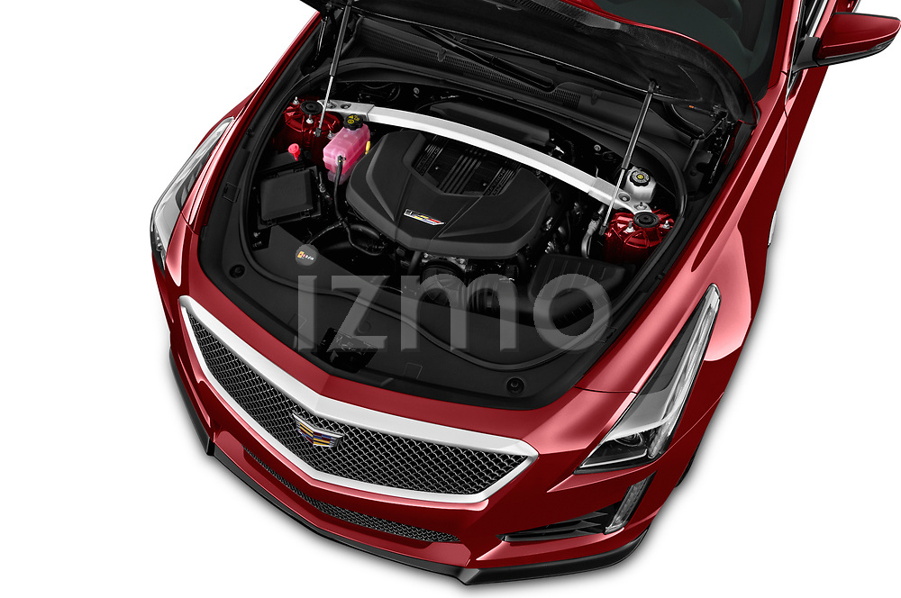 Car Stock 2019 Cadillac CTS-V - 4 Door Sedan Engine  high angle detail view