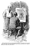 """Human portrait painter (to animal portrait painter). """"I rather envy you, old chap. You don't have the relations coming along and telling you there's something wrong with the mouth."""""""