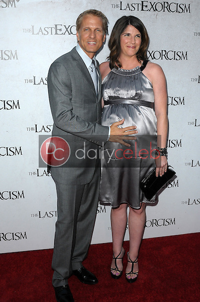 """Patrick Fabian and wife Linda<br /> at a Special Screening of """"The Last Exorcism,"""" Arclight Theater, Hollywood, CA. 08-24-10<br /> David Edwards/Dailyceleb.com 818-249-4998"""