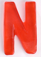 Red Gummi Letter