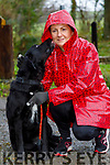 Michelle O'Sullivan (Tralee) with Bella, pictured at the Petmania Operation TransPAWmation fundraising walk in Ballyseedy Wood, in aid of the Recovery Haven, Tralee on Sunday morning last.