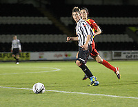 Thomas Reilly in the St Mirren v Dunfermline Athletic Clydesdale Bank Scottish Premier League U20 match played at St Mirren Park, Paisley on 2.10.12.