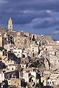 View of the Sasso Caveoso, Matera, Italy. On the left the bell tower of the cathedral. &copy; Carlo Cerchioli<br /> <br /> Veduta del Sasso Caveoso, Matera, Italia. A sinistra il campanile del Duomo.