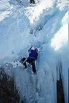MAN CHALLENGES ICE CAVE