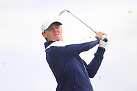 Oliver Gillberg of Team Sweden on the 3rd tee during Round 3 of the WATC 2018 - Eisenhower Trophy at Carton House, Maynooth, Co. Kildare on Friday 7th September 2018.<br /> Picture:  Thos Caffrey / www.golffile.ie<br /> <br /> All photo usage must carry mandatory copyright credit (&copy; Golffile | Thos Caffrey)