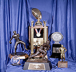 3-28 #2.tif<br /> <br /> Ty Detmer trophies<br /> <br /> Photo by: Mark Philbrick/BYU<br /> <br /> Copyright BYU PHOTO 2008<br /> All Rights Reserved<br /> 801-422-7322<br /> photo@byu.edu