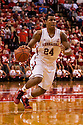 December 3, 2012: Dylan Talley (24) of the Nebraska Cornhuskers dribbles in from the three point line during the game against the USC Trojans at the Devaney Sports Center in Lincoln, Nebraska. Nebraska defeated USC 63 to 51.