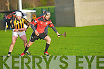 Jason Griffin (Ballyheigue) gets  away from Mike McCarthy (Abbeydorney) in the County League Hurling Final in which ballyheigue defeated abbeydorney in Abbeydorney on Sunday.............