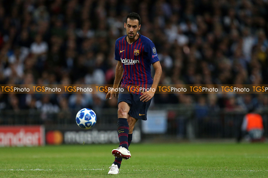 Action during Tottenham Hotspur vs FC Barcelona, UEFA Champions League Football at Wembley Stadium on 3rd October 2018
