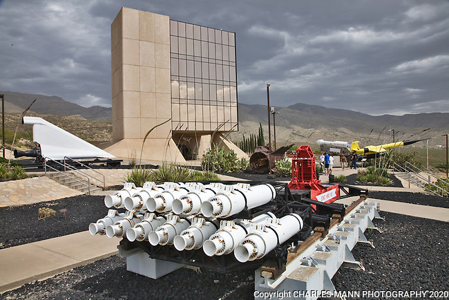 Rockets, engines and other equipment related to  space exploration are on display at the Hubbard Space Museum in Alamogordo, New MExico